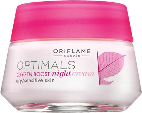 Ночной крем для сухой/чувствит кожи «Активный кислород»
