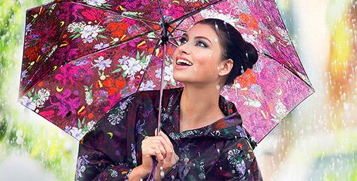 Будь стильной в любую погоду: дождевик и зонт «Таинственный лес»